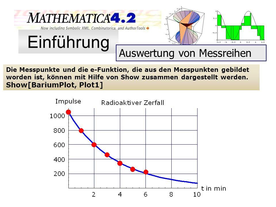 Einführung Auswertung von Messreihen Show[BariumPlot, Plot1]